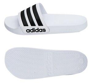 Adidas Men Adilette Cloud-foam Slipper Shoes White Beach Slide Sandals AQ1702