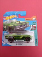 HOT WHEELS - 69 CHEVELLE - TOONED - SHORT CARTE - GHD43 - R 5658