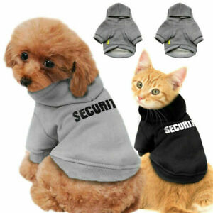 Pet Dog Cat Costume Hooded Coat Jacket Vest Hoodie Jumper Puppy Security Clothes