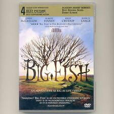 Big Fish 2003 Pg-13 Tim Burton fantasy drama Dvd McGregor, Finney, Crudup, Lange
