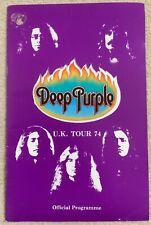DEEP PURPLE - Official Tour Programme - 1974