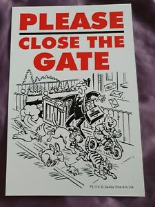 Signs Please Close the Gate sign Dog security sign close gate signs garden gate