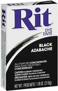 RIT DYE - Powdered Fabric Dye Black - 1.125 oz. (31.9 g)