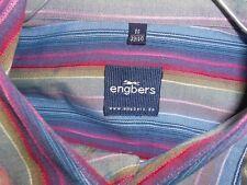 ENGBERS hochwertiges Kurzarmhemd blau-mehrfarbig-gestreift M -39/40