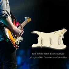 Prewired Loaded Pickguard Alnico V Rail Pickup for Fender Strat Guitar Yellow US