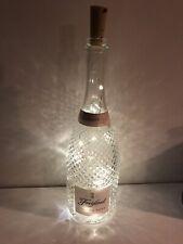 Freixenet Rose Wine Glass Bottle 750ml, Upcycled Lamp/Light 20 Micro LED Lights