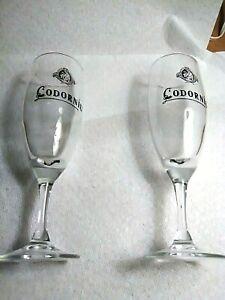 "Vintage Spanish Codorniu Flute Stem Pedestal Glasses 8.75 "" Tall"