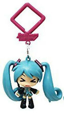Vocaloid 2'' Hatsune Miku Squinting Hanger Figure Bag Clip Key Chain NEW
