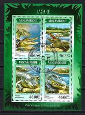 Animaux Crocodiles Mozambique (167) série complète 4 timbres oblitérés
