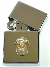 ROYAL INNISKILLING FUSILIERS  WINDPROOF CHROME PLATED LIGHTER SM