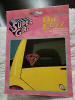 2 Auto Art Chroma Die Cutz Super Girl Vinyl Window Decals