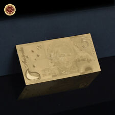 WR 24K Gold Australian Federation Commemorative $5 Dollar Banknote Holiday Gifts