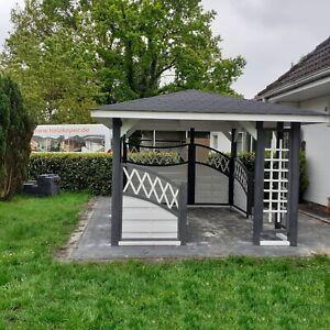 Holzpavillon Gartenlaube 300x300 350x350 FALA