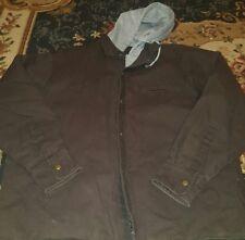NORTH POINT Men's Large Coat Jacket Brown Hood Zip