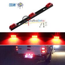 "14"" Red 3-Lamp Truck/Trailer ID LED Light Bar For Ford F150 F250 Dodge RAM, etc"