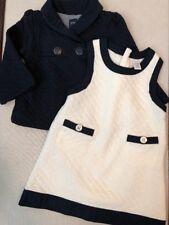 Babygap girls size 18-24mo, 3-Piece Dress & Jacket Set, Navy/Cream,Spring Outfit