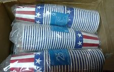 Case of Hot / Cold drinking cups disposable USA Flag design (225)