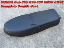 HONDA Cub C65 C70 C90 CM90 CM91 Complete Double Seat   Black // Reproduction