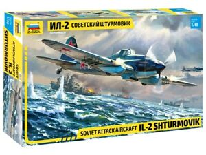 ZVEZDA SOVIET ATTACK AIRCRAFT IL 2 STURMOVIK 1:48 SCALE ITEM NR.4825 NEW
