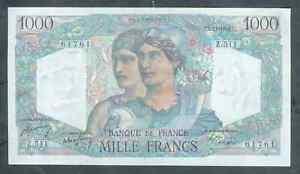 TOP QUALITÉ !!! BILLET DE 1000 F MINERVE ET HERCULE 1948 SPL !!!