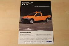 70395) Fiat Strada Pick-up Kommunalfahrzeug Prospekt 199?