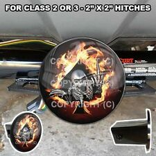 """Tow Hitch Receiver Insert Cover Plug  2"""" x 2""""  Truck & SUV Fire Spade Skeleton"""