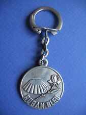 Porte-clés - 027 - Flan ruban bleu/Rose - Cel Ticao - Béziers