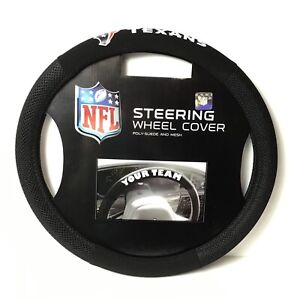 Houston Texans NFL Football Poly Suede Mesh Car Truck Auto Steering Wheel Cover