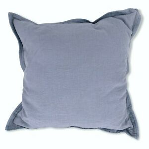 One Ralph Lauren Home WETHERLY Square Pillow SKY BLUE 20 x 20 Linen Down $130