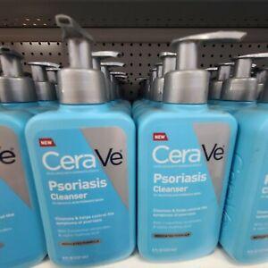 4 Pack Cerave Psoriasis Cleanser 8 Oz Pump Bottle Ex 07/19 Medicated Formula New