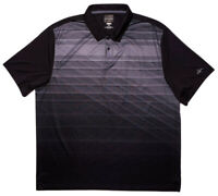 GREG NORMAN Short Sleeve Performance Golf Polo Shirt Gray Black XXL 2XL