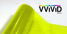 Bright yellow headlight foglight taillight tint film 4ft x 5ft wrap VViViD Vinyl