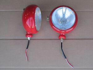 LEFT + RIGHT 12V HEADLIGHTS FOR MASSEY FERGUSON LIGHT MF TO-30 TO-35 HARRIS 50