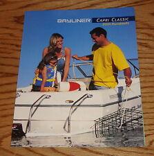 Original 2001 Bayliner Capri Classic Foldout Sales Brochure 01 1950 1952 1954