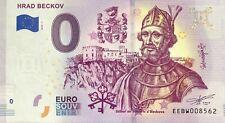 BILLET 0 ZERO EURO  SOUVENIR  HRAD BECKOV  2019-1