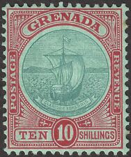 Grenada 1908 KEVII Badge 10sh Green + Red on Green Mint SG83 cat £160 tone spots