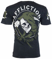 AFFLICTION Mens T-Shirt FASTER THAN DEATH American Customs Biker Jeans $58