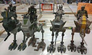 4 AT-RT LOT Figures Star Wars Clone Trooper Hasbro vehicle ARF Army Builder Jedi