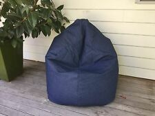 Denim Bean Bag - Indoor Large Lounger Chair New Relax