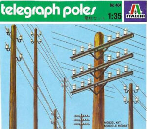 Telegraph Poles, Italeri 404, 1/35