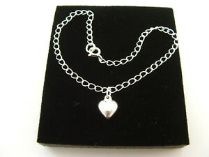 New 925 Sterling Silver Bracelet with silver heart charm.