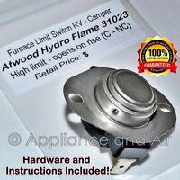 Atwood 31023 Hydro Flame Hi Limit Furnace Switch L170 Suburban 230635 RV +instr.