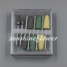 Dental Polishing Burs Drill Resin Base Acrylic Polisher Rotary Tools 8 Pcs/Set