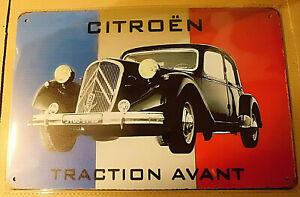 ABLERTRADE Affiche publicitaire Vintage D/écoration Murale Plaque en m/étal Peugeot France Automobile fran/çaise 20,3 x 30,5 cm
