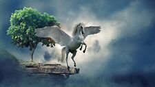 BEAUTIFUL UNICORN CANVAS PICTURE POSTER PRINT UNFRAMED 6738