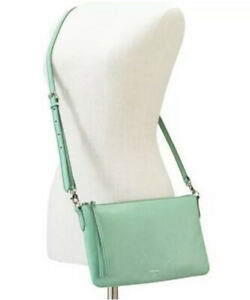Fossil Syndey Mint Green Leather Crossbody Bag Purse ZB5701