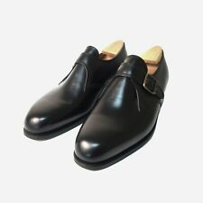 J.M. Weston Buckle Derby, Monk Strap Shoes, Black Boxcalf. Size 7 UK, 41 EU