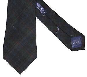Ralph Lauren Purple Label Mens Italy Cashmere Silk Paisley Plaid Neck Tie New