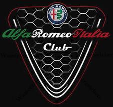 10cm-AUFKLEBER Alfa Romeo Italia Club Logo Schwarz UV&Waschanlagenfest Auto AD14