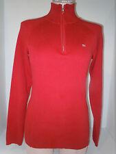 RAPLH LAUREN POLO JEANS CO. Womens 1/3 Zip Front Red Sweater Jacket M Medium